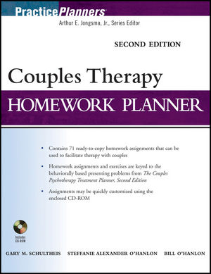 Couples Therapy Homework Planner, 2nd Edition (0470649062) cover image