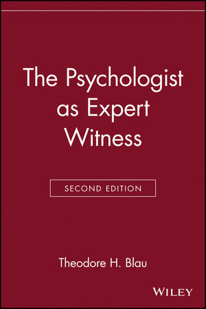 The Psychologist as Expert Witness, 2nd Edition (0471113662) cover image