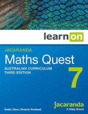 Jacaranda Maths Quest 7 Australian Curriculum 3e learnON (Online Purchase)