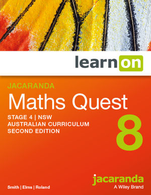 Jacaranda Maths Quest 8 Stage 4 NSW Australian curriculum 2e learnON (Codes Emailed)
