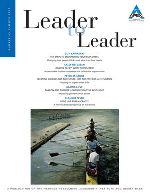 Leader to Leader (LTL), Volume 65, Summer 2012