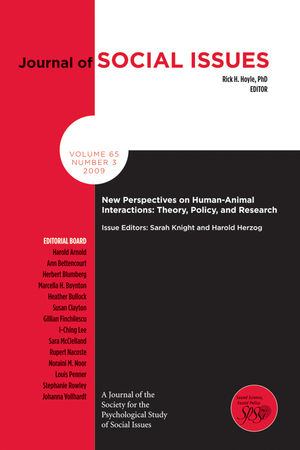 New Perspectives on Human-Animal Interactions: Theory, Policy, and Research (1444333062) cover image