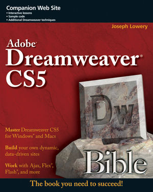 Adobe Dreamweaver CS5 Bible (0470881763) cover image