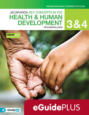 Key Concepts in VCE Health and Human Development Units 3 & 4 5e eGuide (Online Purchase)