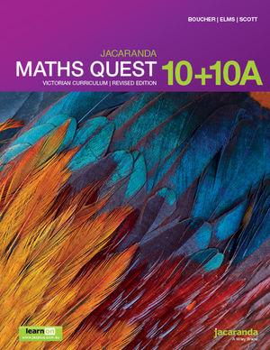Jacaranda Maths Quest 10 + 10 A Victorian Curriculum 1e (revised) learnON & print