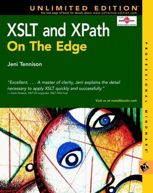 XSLT and XPath On The Edge, Unlimited Edition (0764547763) cover image