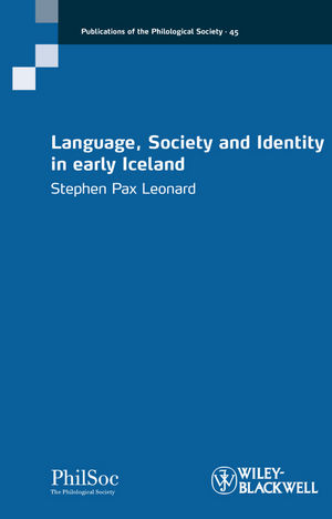 Language, Society and Identity in early Iceland (1118294963) cover image