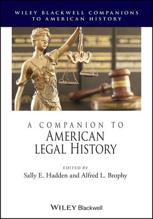 A Companion to American Legal History (1118533763) cover image