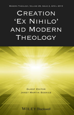 """Creation """"Ex Nihilo"""" and Modern Theology (1118705963) cover image"""