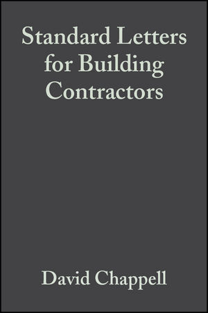 Standard Letters for Building Contractors, 3rd Edition