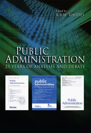 Public Administration: 25 Years of Analysis and Debate (1444332163) cover image