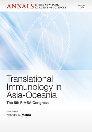 Translational Immunology in Asia-Oceania: The 5th International Congress of the Federation of Immunological Societies of Asia-Oceania, Volume 1283