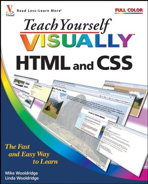 Teach Yourself VISUALLY HTML and CSS (0470407964) cover image