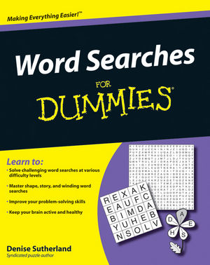 Word Searches For Dummies (0470453664) cover image