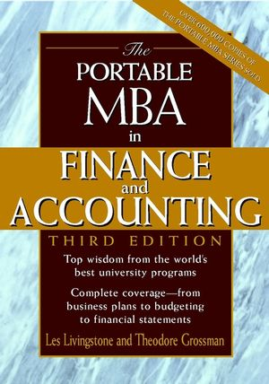 The Portable MBA in Finance and Accounting, 3rd Edition (0471168564) cover image