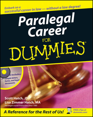 Paralegal Career For Dummies (0471799564) cover image