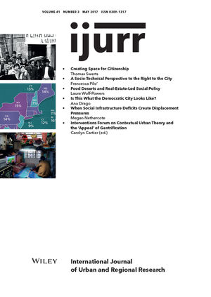 International Journal of Urban and Regional Research, Volume 41 - Issue 3