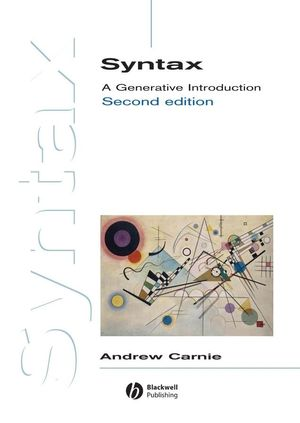 Syntax: A Generative Introduction, 2nd Edition (1444326864) cover image