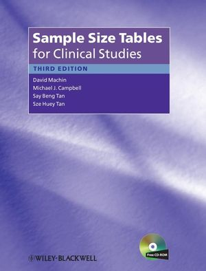 Sample Size Tables for Clinical Studies, 3rd Edition (1444357964) cover image
