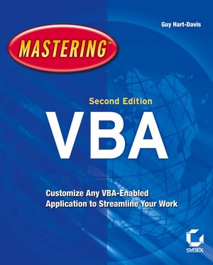 Mastering MIcrosoft VBA, 2nd Edition (0782144365) cover image