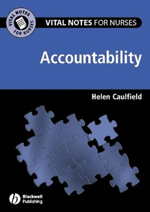 Vital Notes for Nurses: Accountability (1118305965) cover image