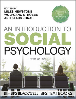 An Introduction to Social Psychology, 5th Edition (1118427165) cover image