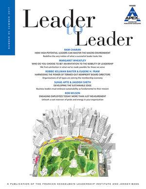 Leader to Leader (LTL), Volume 85, Summer 2017