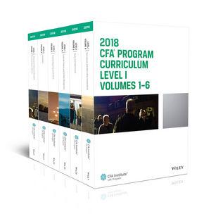 CFA Program Curriculum 2018 Level I, Volumes 1 - 6 Box Set (1944250565) cover image