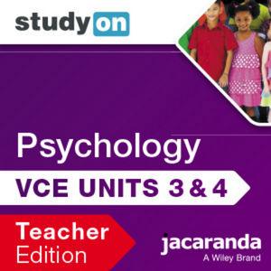 StudyOn VCE Psychology Unit 3 & 4 3E Teacher Edition (Online Purchase)