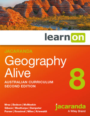 Jacaranda Geography Alive 8 2e Australian curriculum learnON (Online Purchase)