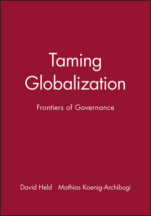 Taming Globalization: Frontiers of Governance (0745630766) cover image