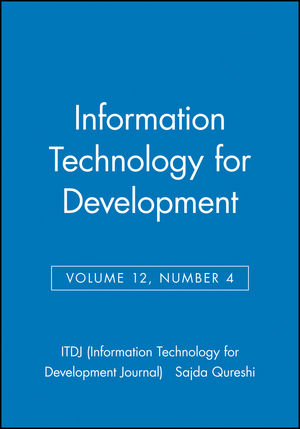 Information Technology for Development, Volume 12, Number 4