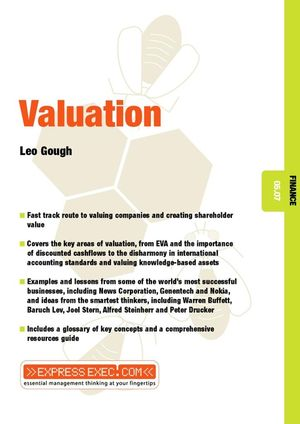 Valuation: Finance 05.07 (1841123366) cover image
