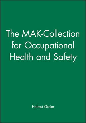 The MAK-Collection for Occupational Health and Safety (3527323066) cover image
