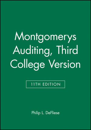 Montgomerys Auditing, 3rd College Version, 11th Edition
