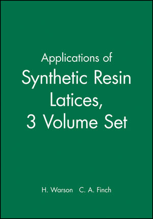 Applications of Synthetic Resin Latices , 3 Volume Set  (0471560367) cover image