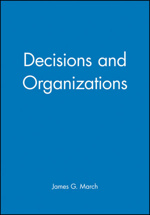 Decisions and Organizations (0631168567) cover image