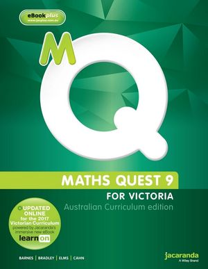 Maths Quest 9: For Victoria, Australian Curriculum Edition & eBookPlus