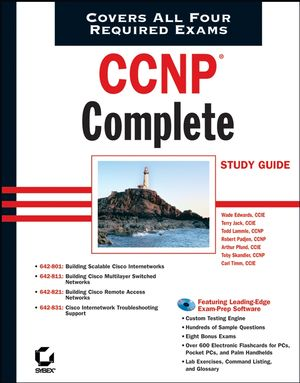 CCNP Complete Study Guide: Exams 642-801, 642-811, 642-821, 642-831 (0782150667) cover image