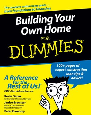 Building Your Own Home For Dummies (1118054067) cover image