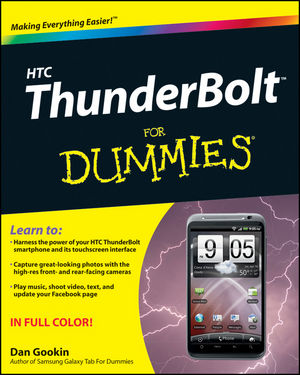 HTC ThunderBolt For Dummies (1118131967) cover image