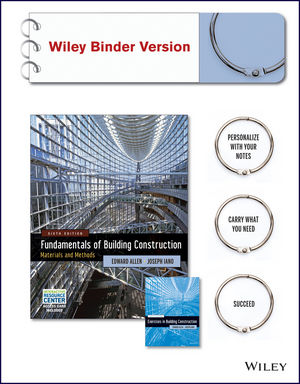Fundamentals of Building Construction, Sixth Edition Binder Ready Version, Construction Exercises 6th Edition BRV, with Interactive Resource Center SET