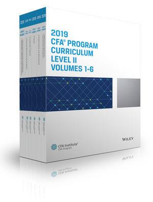 CFA Program Curriculum 2019 Level II Volumes 1-6 Box Set