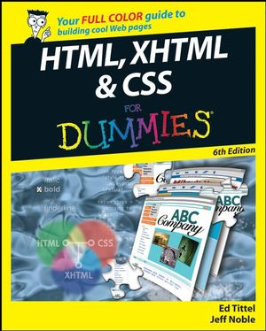 HTML, XHTML and CSS For Dummies, 6th Edition