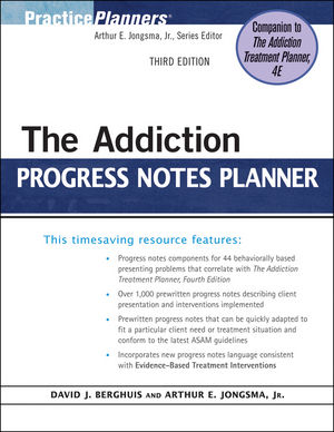 The Addiction Progress Notes Planner, 3rd Edition (0470498668) cover image