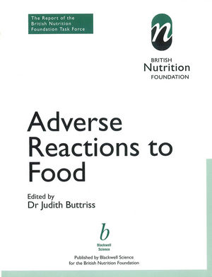 Adverse Reactions to Food: The Report of a British Nutrition Foundation Task Force (0470698268) cover image