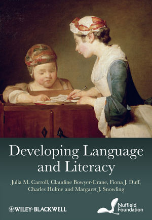 Developing Language and Literacy: Effective Intervention in the Early Years (0470711868) cover image