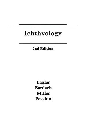 Ichthyology, 2nd Edition (0471511668) cover image