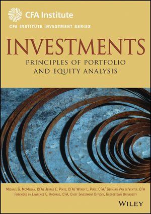 Investments: Principles of Portfolio and Equity Analysis (1118001168) cover image