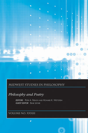 Philosophy and Poetry, Volume XXXIII
